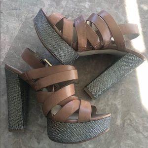 Michael Kors Strapy OpenToe RhInestone Heel Sandal